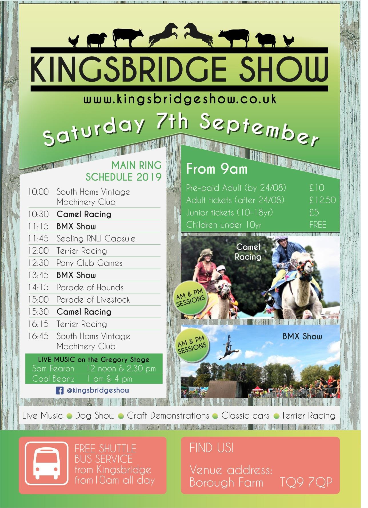 Kingsbridge Show - Saturday 7th September